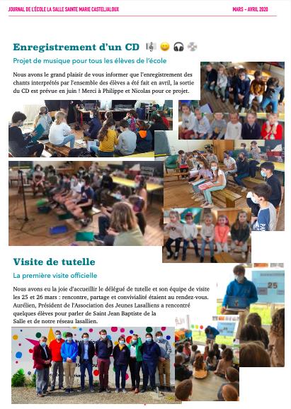 Journal école La Salle Sainte Marie Casteljaloux 2021